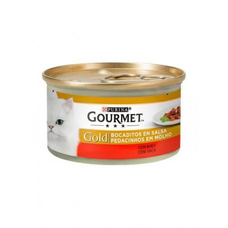 Gourmet Gold Pedacinhos Em Molho Carne De Vaca
