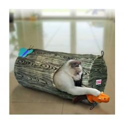 KONG Cat Play Spaces Burrow - Castanho